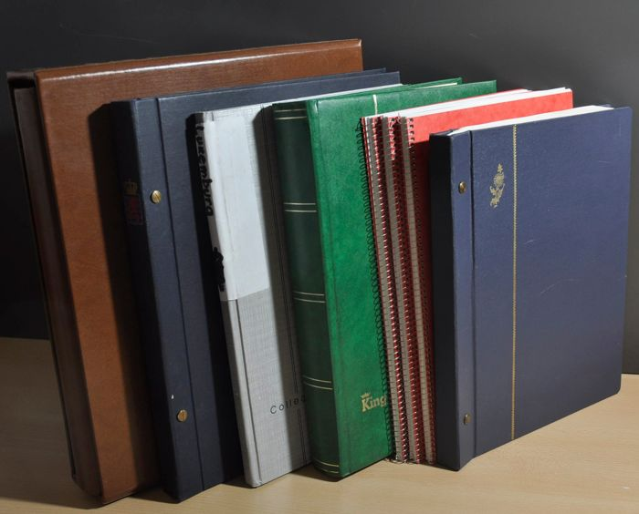Luxemburg - Batch in albums, notebooks and stock books, starting with classics