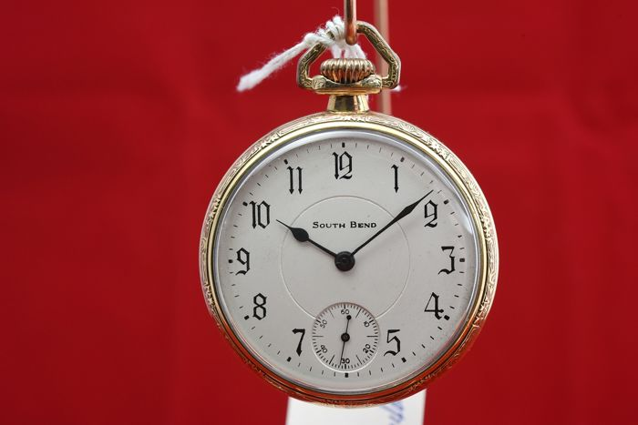 South Bend open face 16S 1923 - 219 pocket watch NO RESERVE PRICE  - 14052 - Heren - 1901-1949