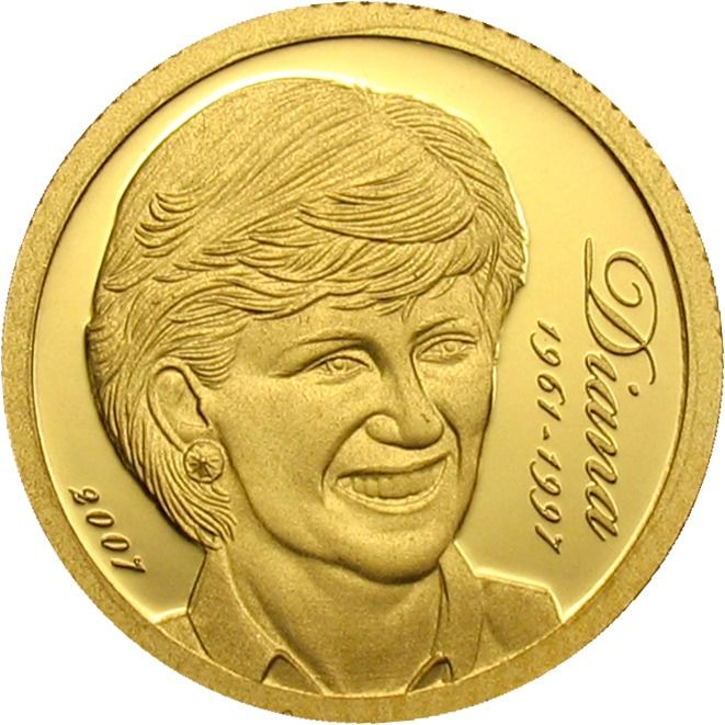 "Îles Cook - 10 Dollars 2007 ""Lady Diana 1961-1997"" - Or"