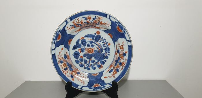 Bord - Imari - Porselein - grande assiette - China - Kangxi (1662-1722)