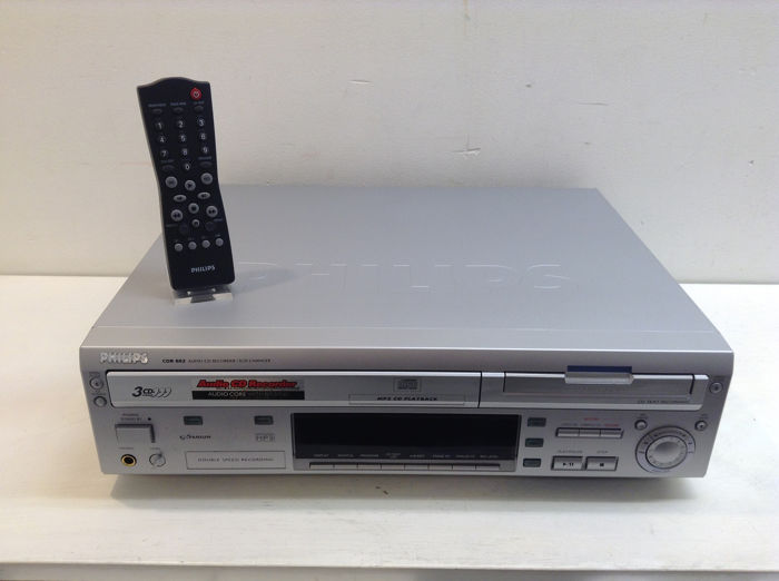 Philips - CDR802 - 3CD Changer, CD Recorder