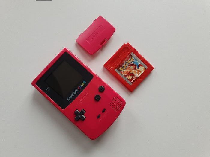 Nintendo Gameboy Color GBC BERRY edition +Pokemon Red Gameboy Color - Console (1) - Perfect working order
