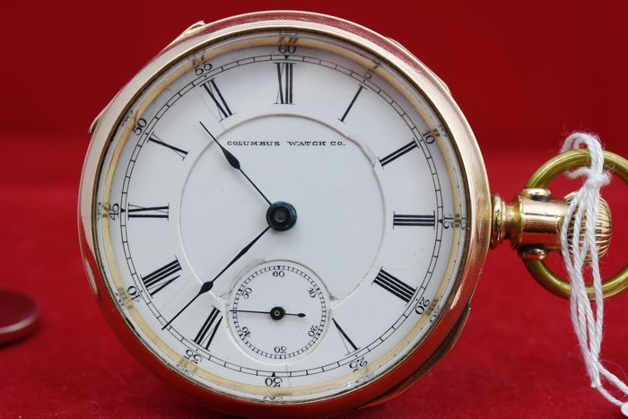 Columbus - pocket watch NO RESERVE PRICE - 17C55 - Men - 1850-1900