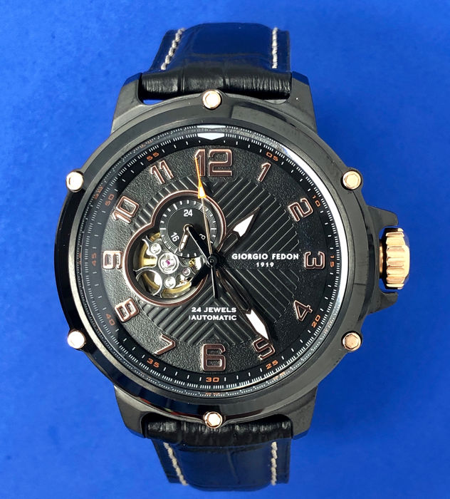 """Giorgio Fedon 1919 - Automatic Sport Utility III Rose Gold """"NO RESERVE PRICE"""" - GFBV004 - Homme - Brand New"""