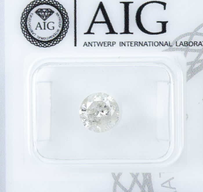 Diamante - 1.04 ct - Blanco Natural - Color K - I2  *NO RESERVE*
