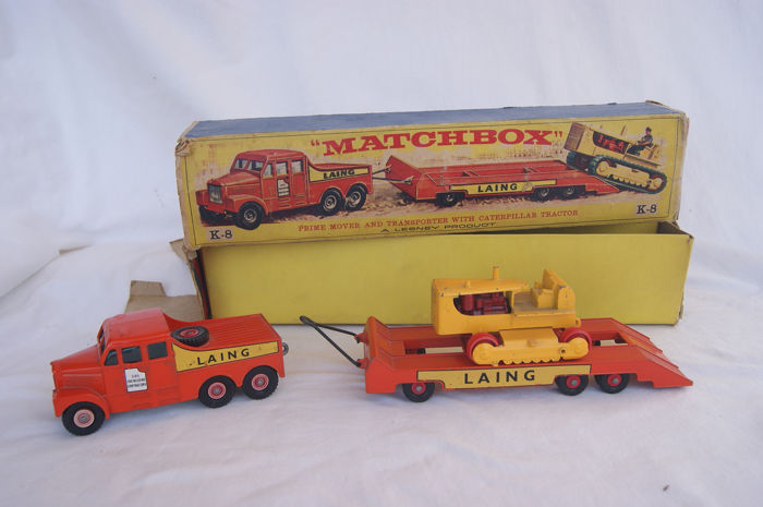 """Matchbox - 1:76 - Matchbox King-Size No.K-8-a """"LAING""""Scammell 6 x 6 Prime Mover, Low Loader for sale"""