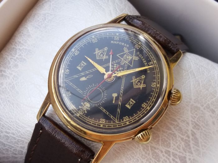 "Poljot  - Signal ""Masonic"" Luxury Watch USSR - Homem - 1960-1969"