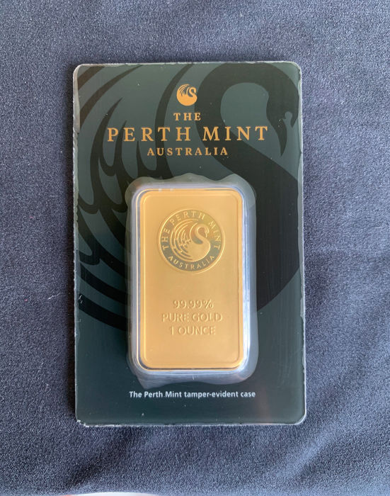 1 troz (31.1 gramas) - Ouro .999 (24 quilates) - Perth Mint - Seal+Certificado