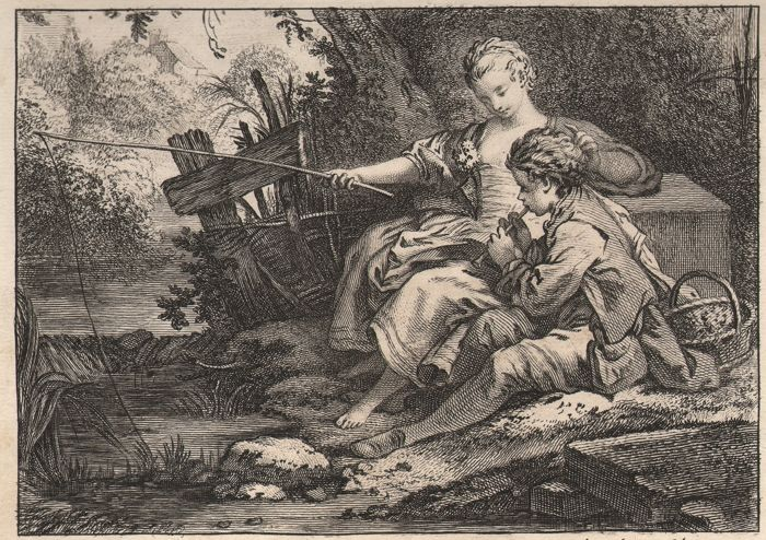 Jean Baptiste Oudry (1686-1755) - The fish, and the shepherd who plays the flute