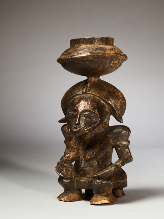 Miniature statue - Wood - Senufo - Ivory Coast