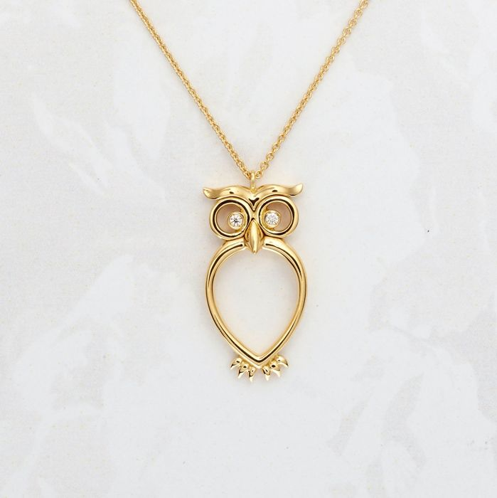 Leo Pizzo - 18 kt. Yellow gold - Necklace with pendant - 0.03 ct Diamond