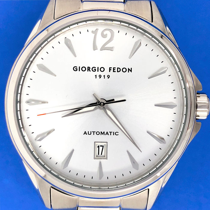 "Giorgio Fedon 1919 - Mechanical V Stainless steel White ""NO RESERVE PRICE"" - GFAT003 - Men - Brand New"