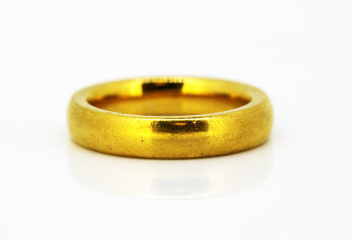 01566184a24d8 Antique Ring Band - 1897 - 22 kt. Yellow gold - Ring - Diamonds - Catawiki