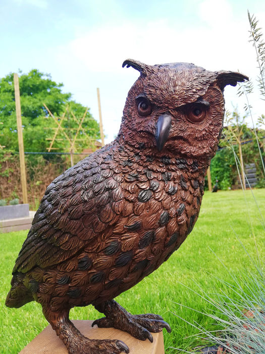 Garden sculpture of an Owl - Bronze - Second half 20th century