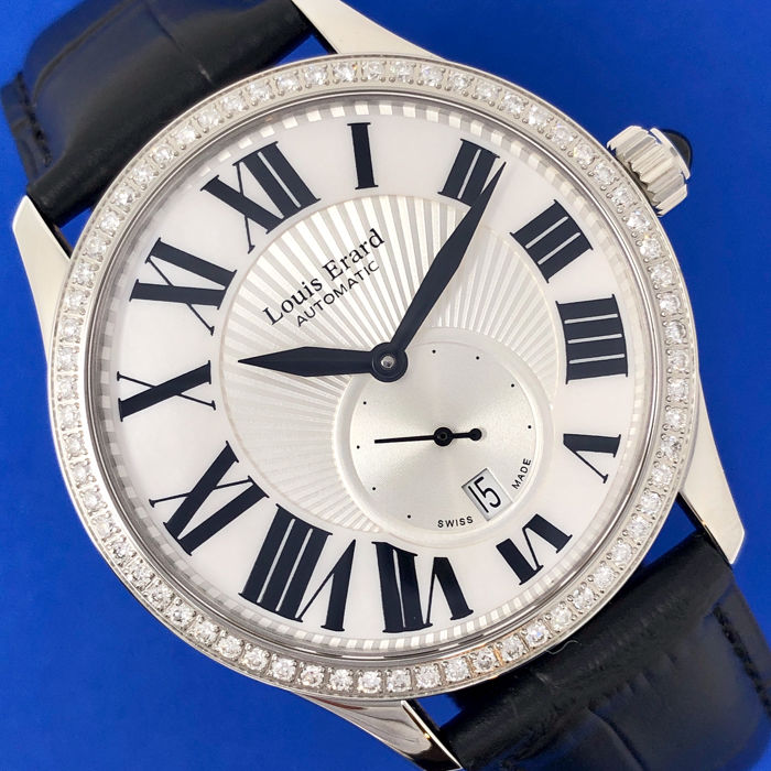 "Louis Erard - Emotion Collection Automatic 1.0 ct Diamond Watch ""NO RESERVE PRICE"" - 92310SE01.BDC02 - Unisex - BRAND NEW"