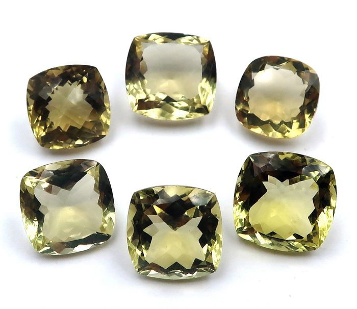6 pcs  Citrine - 49.10 ct