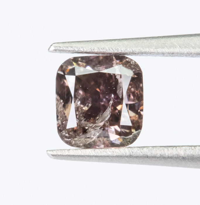Diamante - 0.44 ct - Natural Fancy DEEP rosado rosáceo - I1  *NO RESERVE*