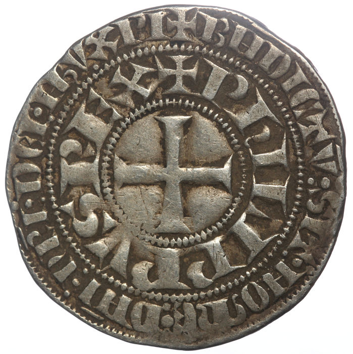 France - Philippe IV (1285-1314) -  Gros Tournois - Silver