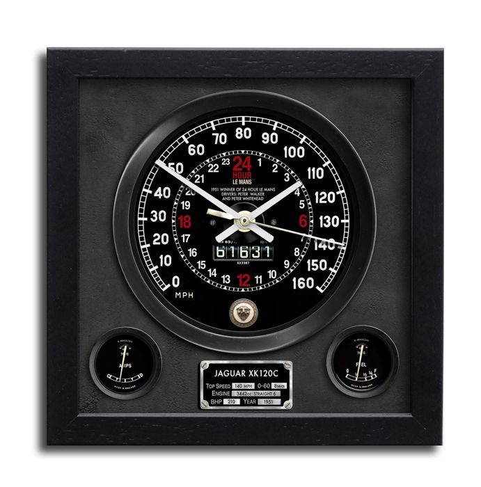 Decorative object - Jaguar - Jaguar XK 120C Le Mans 24 Hour Presentation Wall Clock - 2016