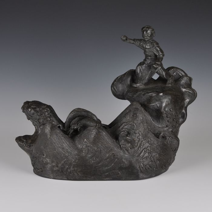 Personnage debout - Bronze - Chine - XVIIe siècle