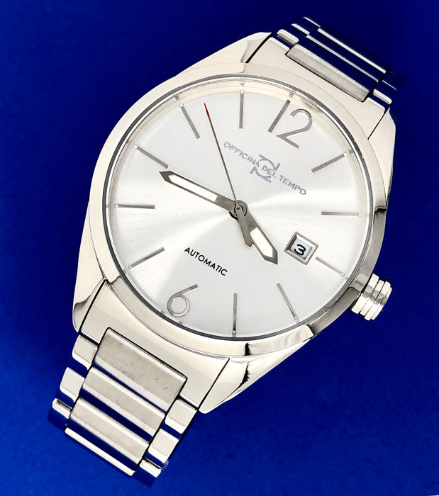 "Officina del Tempo - Wall Street Automatic Stainless Steel  ""NO RESERVE PRICE"" - OT1037 - Homme - BRAND NEW"