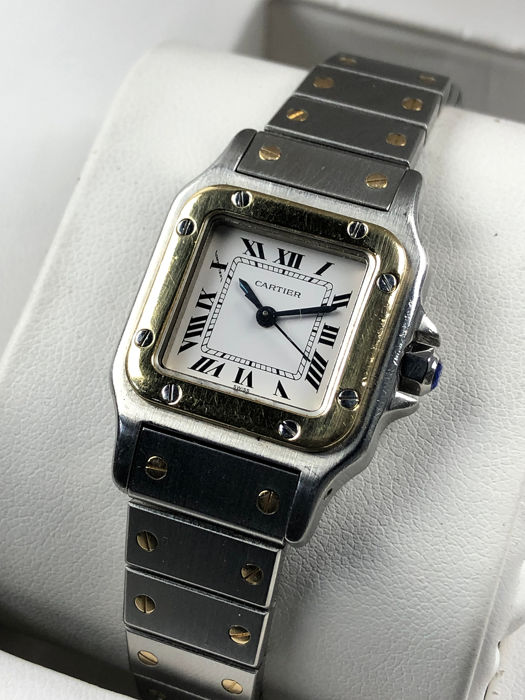 Cartier - Santos Galbee Lady Gold/Steel - Mujer - 1990-1999