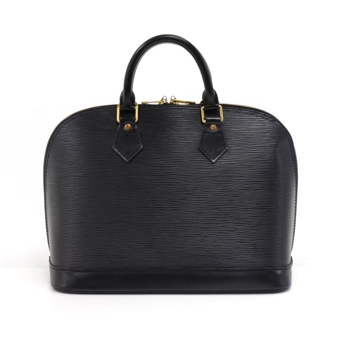 Louis Vuitton - Alma Black Epi Leather Hand Bag Handbag