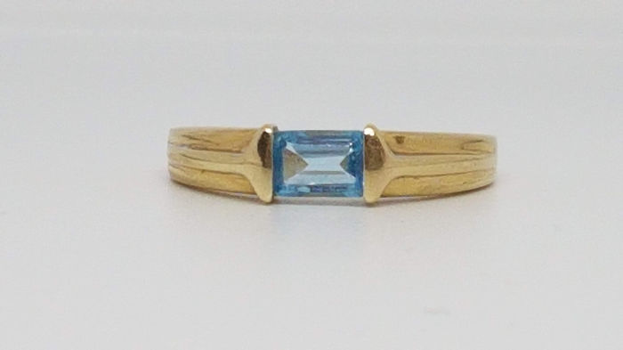 14 kt. Yellow gold - Ring - 0.30 ct Topaz