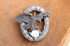 "Germany - Air Force - Luftwaffe observer badge by Paul Meybauer"" PM"" marked - 1944"