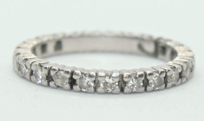 N/A - 18 kt. White gold - Ring - Diamonds