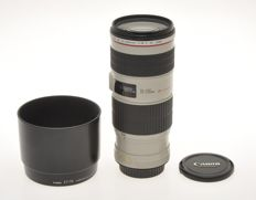 Canon  zoom 70-200mm F:4 EF L IS USM, with lens hood, exc++++