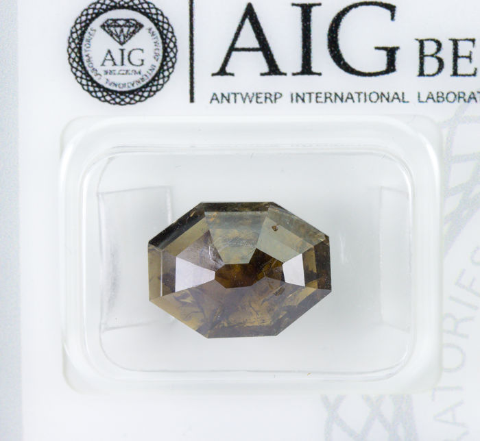 Diamante - 3.72 ct - Natural Fancy DEEP Yellowish Brown - I2  *NO RESERVE*