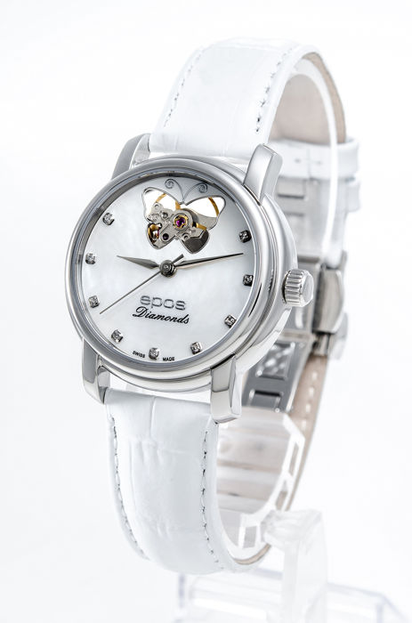 Epos - White Mother of pearl with open heart ladies watch  - 4314/F-OH-BF-WHT - Mujer - 2011 - actualidad