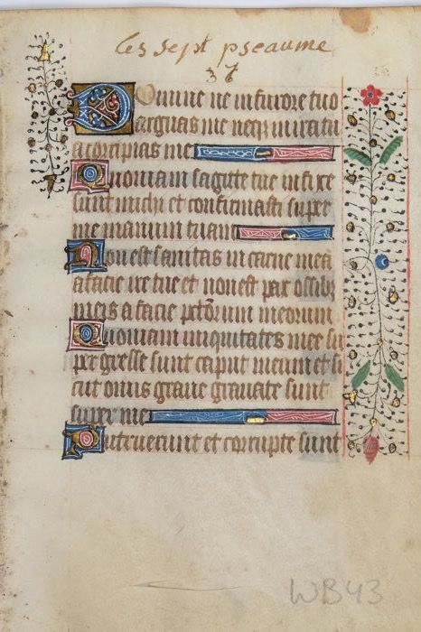 Manuscript -  Illuminated page from a Book of Hours - ca. 1450