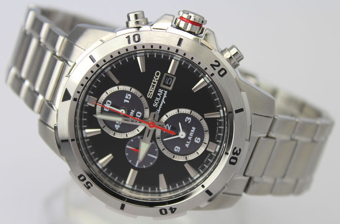 "Seiko - ""NO RESERVE PRICE"" Chronograph  - SSC557P1 Solar Powered - Heren - 2011-heden"
