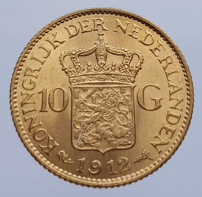 The Netherlands - 10 Gulden 1912 Wilhelmina - Gold