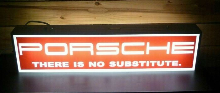Sign - Porsche - Very Rare - Genuine Porsche Illuminated Dealer Dealership Hanging Sign - 1970-1980