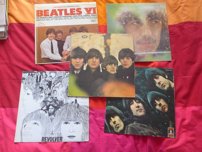 Beatles - 5 lp Albums - Multiple titles - LP's - 1964/1972