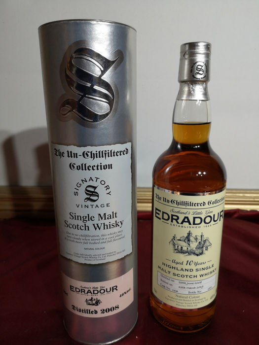 Edradour 2008 10 years old - Signatory Vintage - 0.7 Ltr