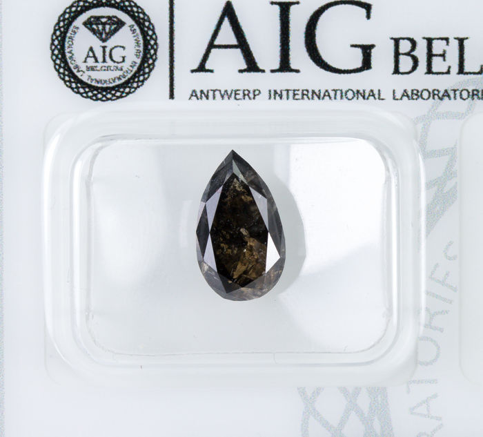 Diamant - 2.56 ct - Natürliches Fancy DARK Brown - I3  *NO RESERVE*
