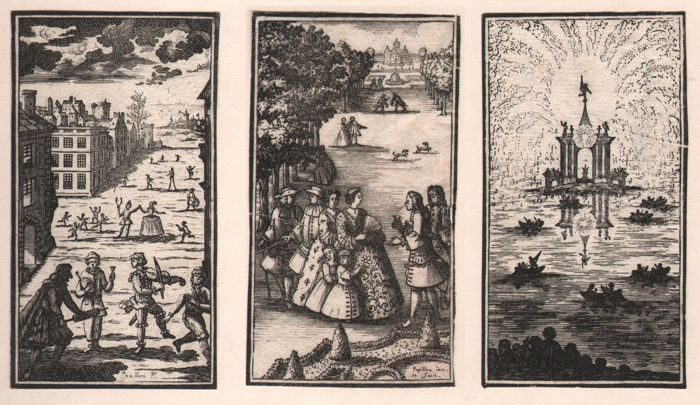 Jean-Michel Papillon (1698-1776) - The months: Februari, May and July