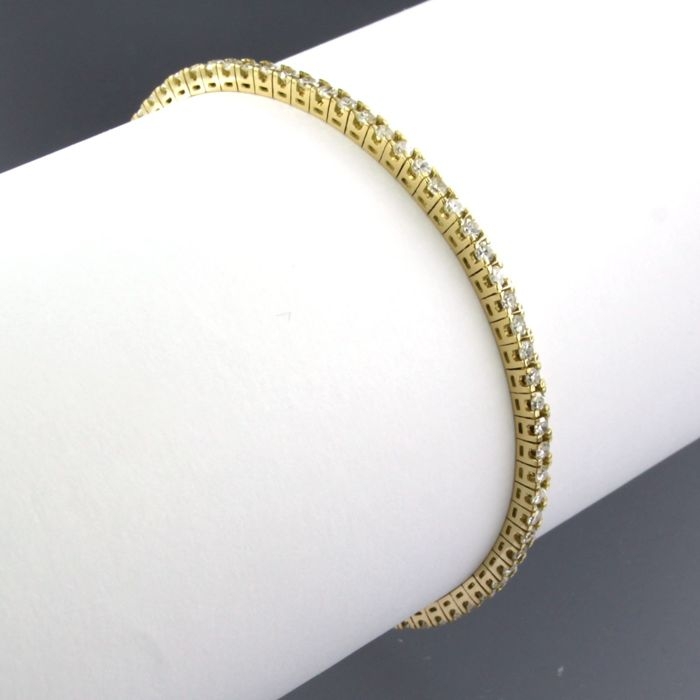 18 quilates Oro amarillo - Brazalete - 2.10 ct Diamante