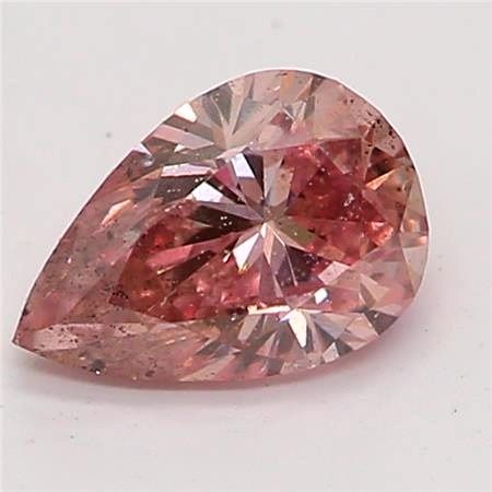 1 pcs Diamond - 0.27 ct - Pear - fancy brownish pink - I1