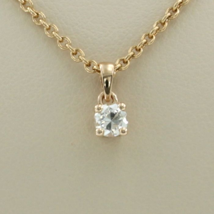 14 kt. Pink gold - Necklace with pendant - 0.24 ct Diamond