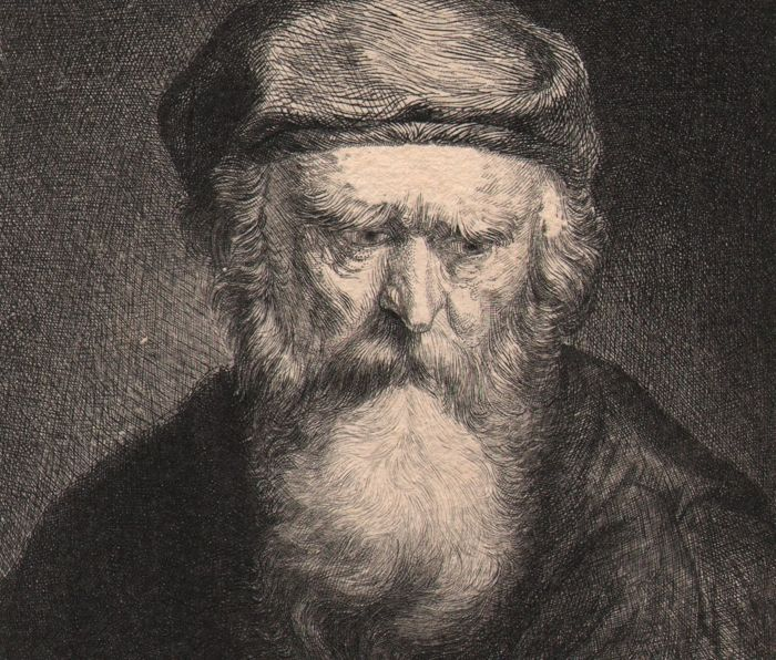 After Rembrandt Harmensz van Rijn (1606-1669) - Portrait of an old bearded man