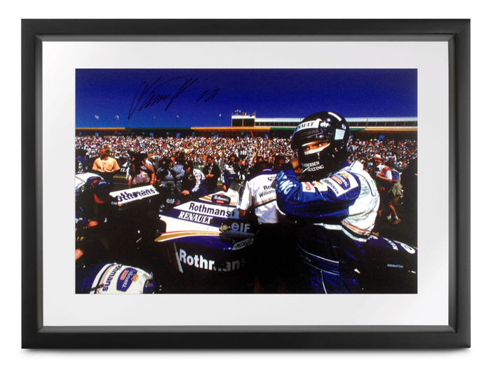 1996 Australian Grand Prix 'grid' - Formula One - (signed) Damon Hill - Photograph