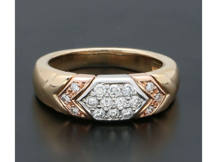 18 kt. Yellow gold - Ring - 0.26 ct Diamond