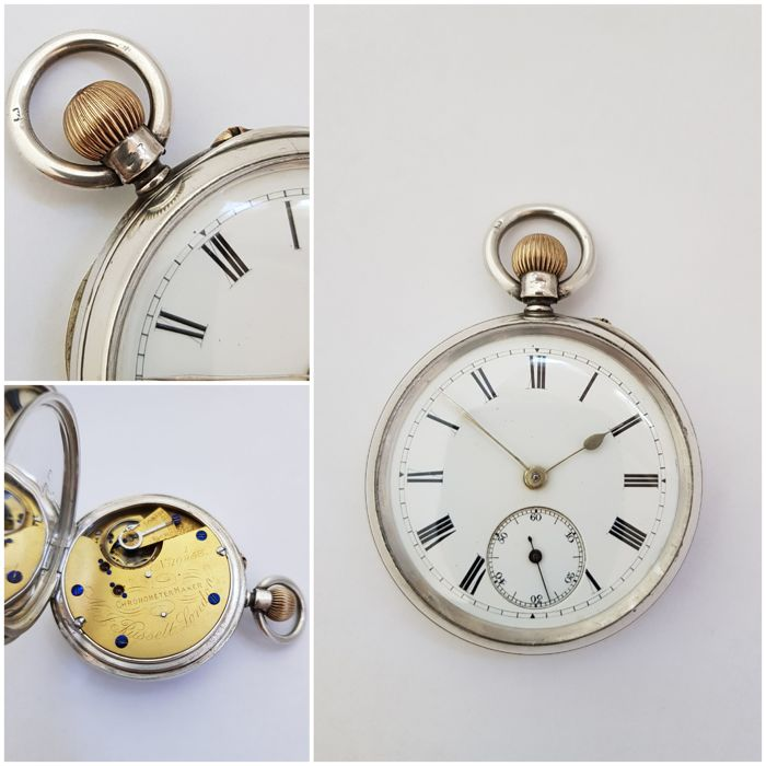 1898 - England - Chester - MJ Russell London - Chronometer Maker -  pocket watch NO RESERVE PRICE - Unisexe - 1850-1900