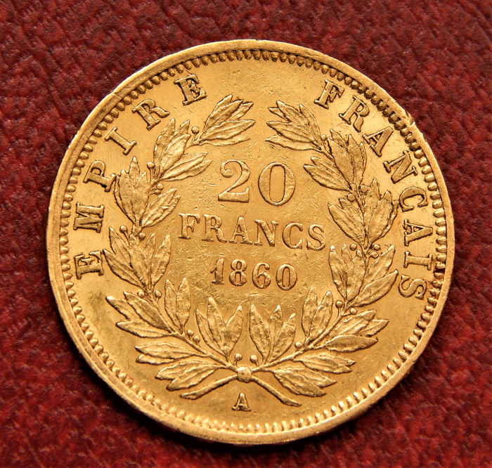 20 Francs 1860-A (Paris) - Napoleon III - Or