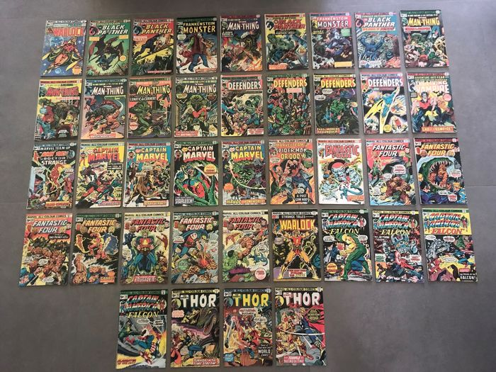 Marvel Comic Collection - Including Warlock, Thor, Man-Thing, Black Panther  + More!  - Stapled